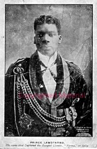 Prince LawdTanno (Spell) known to have been travelling with a menagerie and circus around 1905. probably a lion tamer modelled on Montarno the African Lion King. Known to have travelled with Chipperfield's French Menagerie.