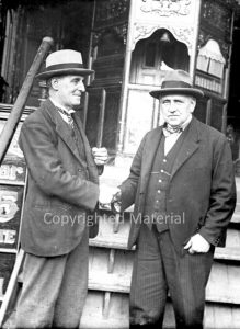 E H Bostock on the right with Unknown man on the left. Anyone know who this may be. They are outside the B&W booth. It is again circa 1932.