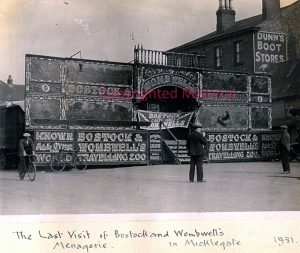 Rare view of B&W booth at Selby during 1931. This must have been one of the last times it visited the town or anywhere else, given it disbanded the following year. Shows the poor condition of the booth front.
