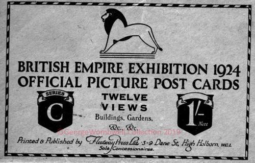 Envelope British Empire Exhibition1924 twelve views set C