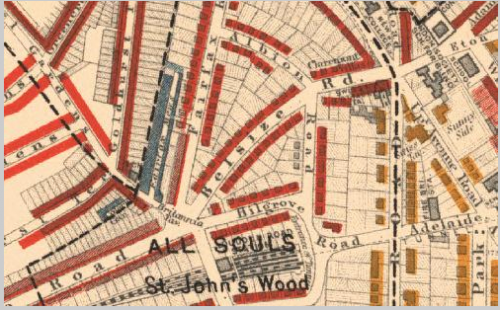 Belsize Road, Middle Class 1869